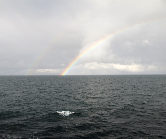 June 2010 rainbow at sea