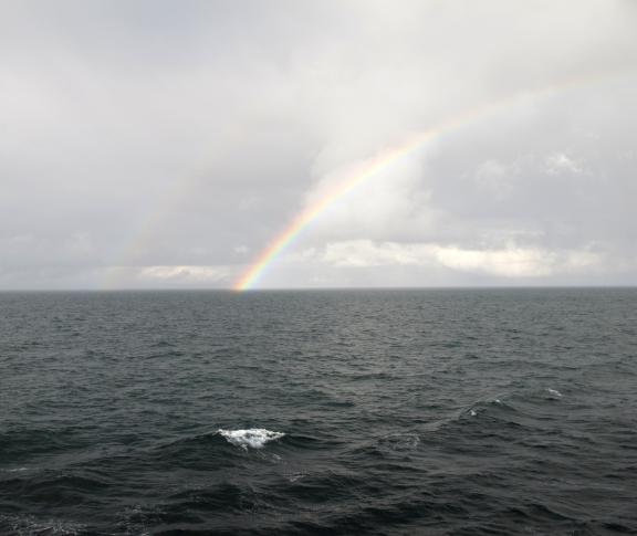June 2010 rainbow at sea