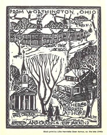 Block print by Lillie H. Asmus
