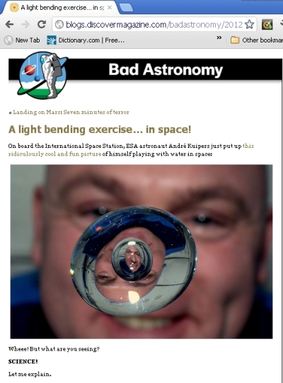 post from the Bad Astronomy blog