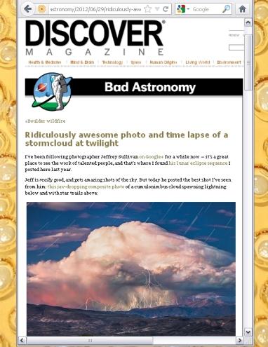 29 June 2012 Bad Astronomy blog post