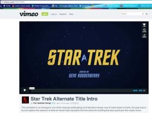 Quintek Group alternate title intro for Star Trek