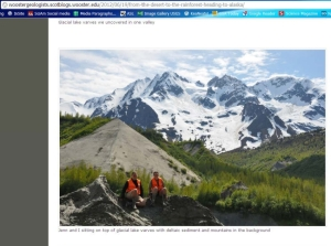 Screen shot from the Wooster Geologists blog post by Lauren Vargo