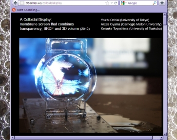 Screen shot from http://96ochiai.ws/colloidaldisplay