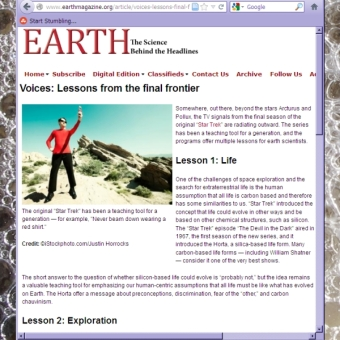 3 Feb 2012 Earth article by Lisa A. Rossbacher
