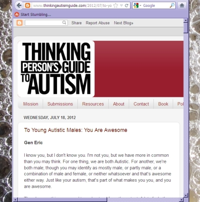 Thinking Person's Guide to Autism 18 July post
