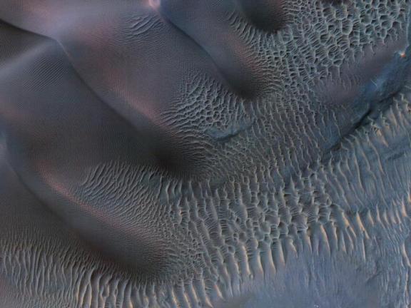 NASA image Dunes in Noachis Terra, Mars