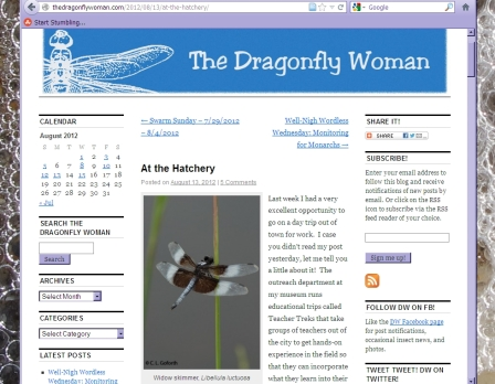Dragonfly Woman's at the Hatchery article