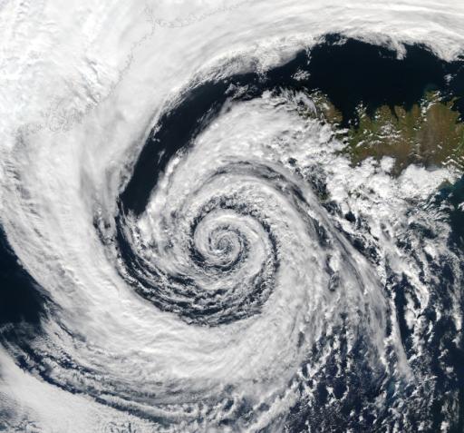 Greenland storm