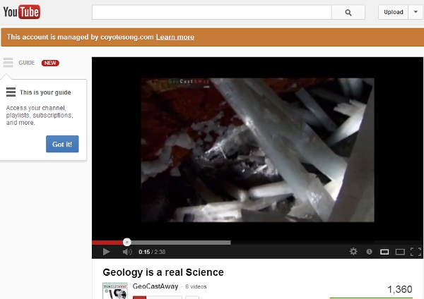 "Awesome ""Geology is a Real Science"" video from GeoCastAway. Click on the image to go to the YouTube video."