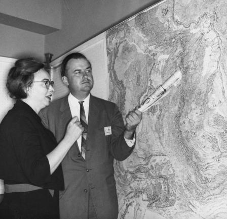 Marie Tharp and Bruce Heezen