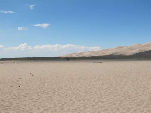 Great Sand Dunes National Monument. In the summer, it's best to visit early in the morning or evening. Midday, the heat off of the sand can be hazardous. Photo by keagiles.