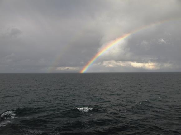 ocean, rainbow, Pacific